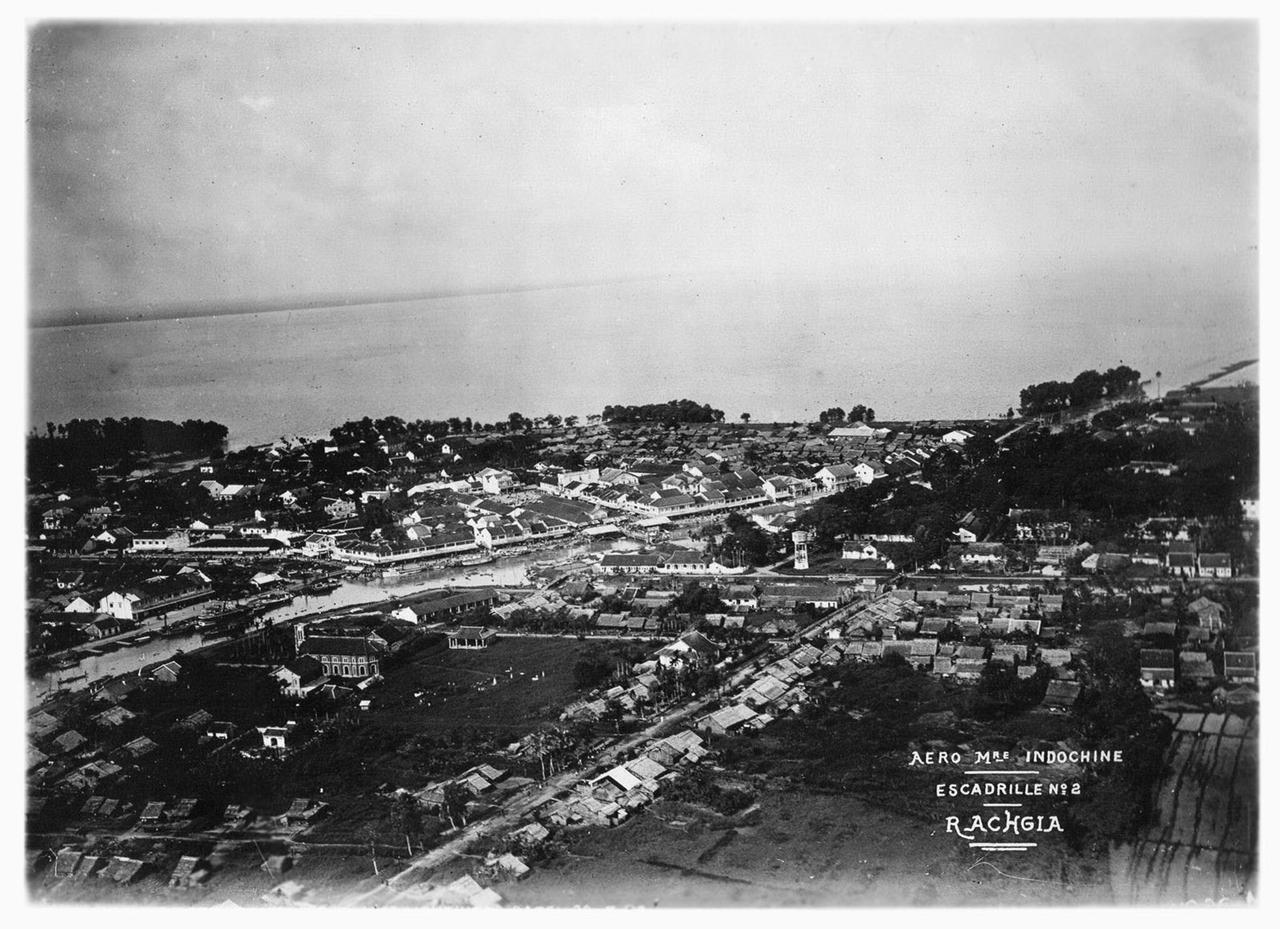 Ảnh trên không Rạch Giá - Kiên Giang năm 1930 (Dự án không ảnh Đông Dương)