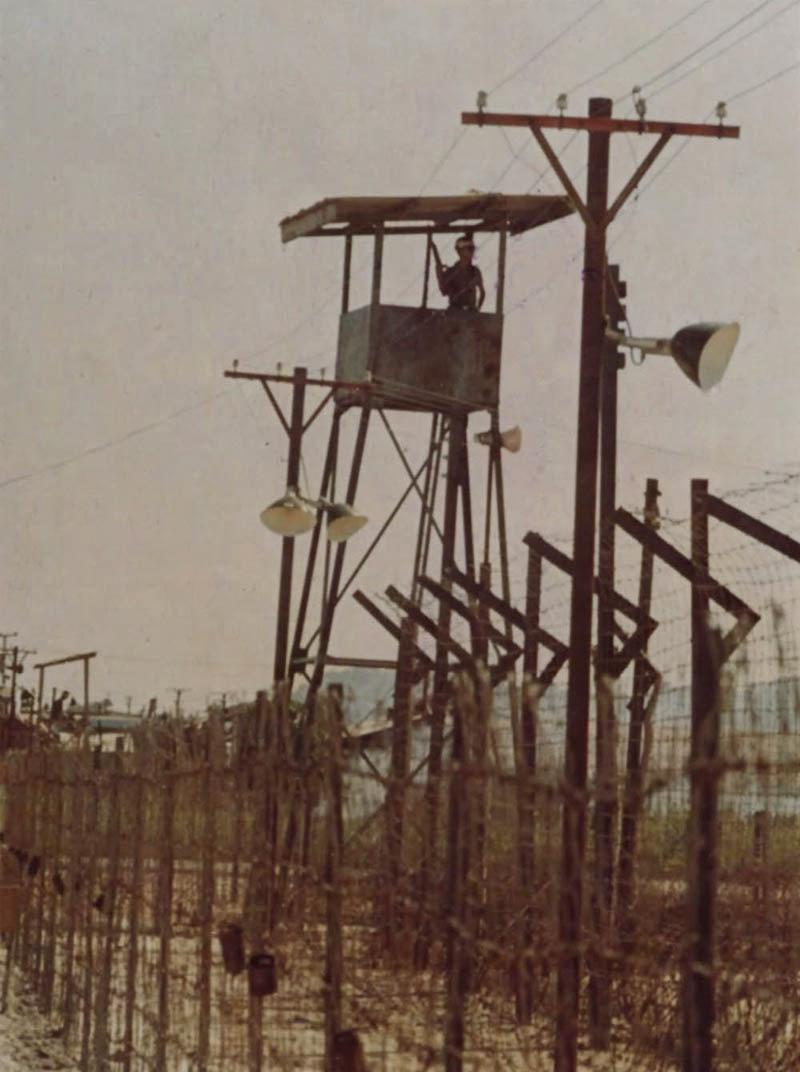 Hàng rào và đồn canh gác ở nhà tù tại Phú Quốc