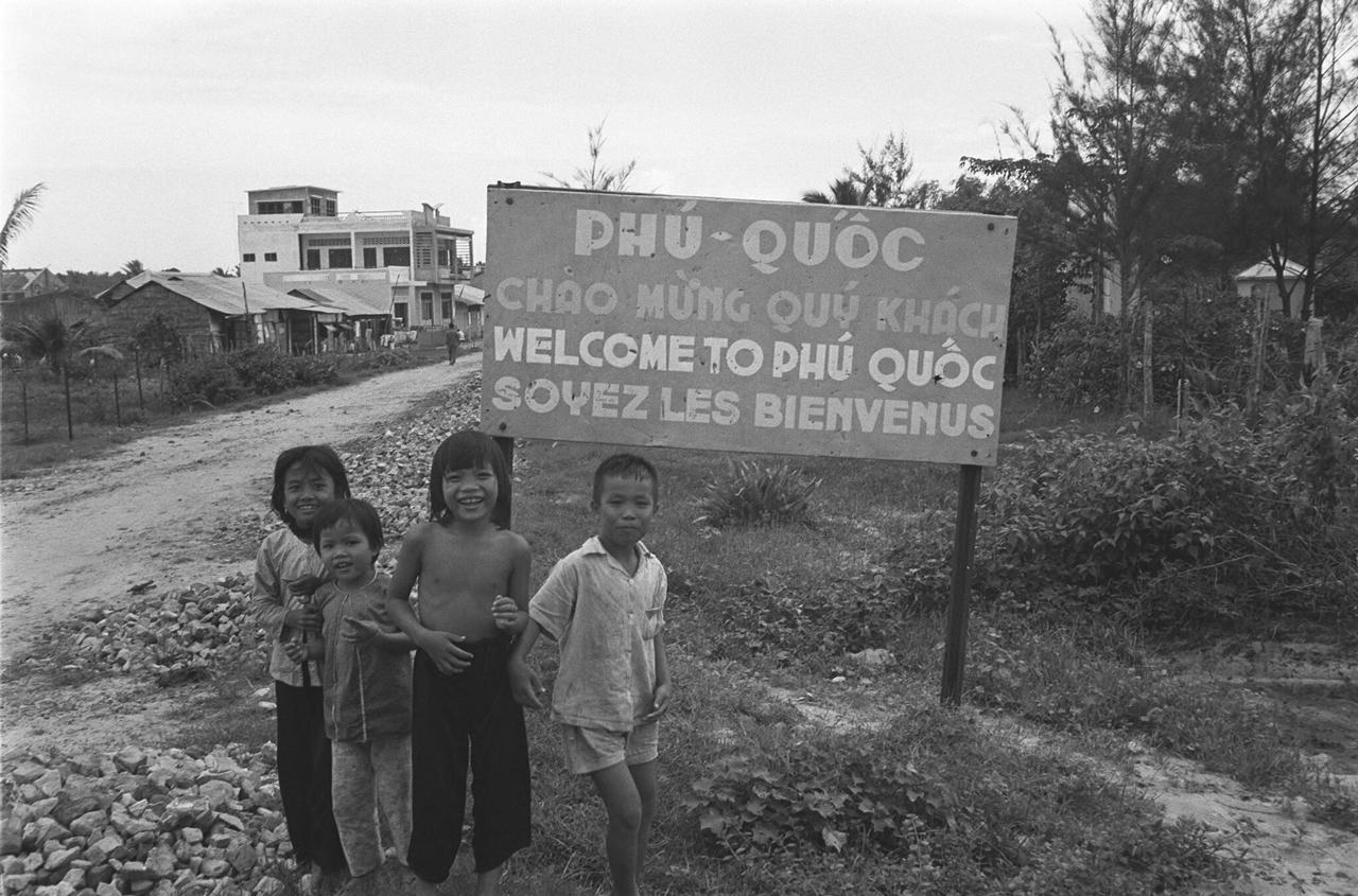 Bảng hiệu chào mừng du khách đến đảo Phú Quốc