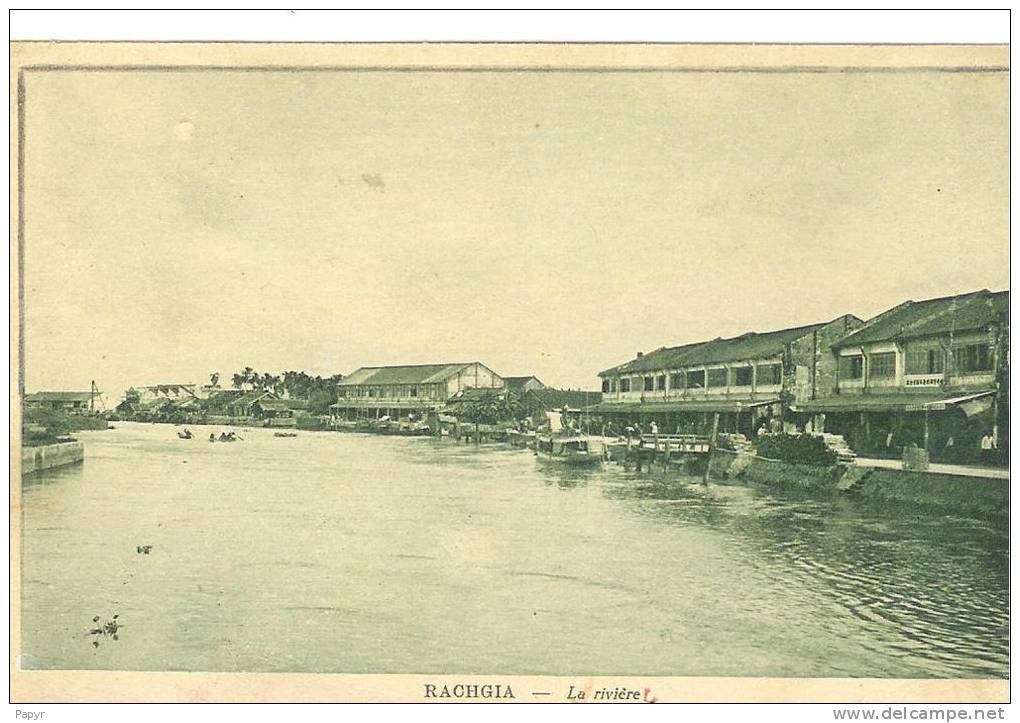 Con sông ven chợ ở Rạch Giá xưa