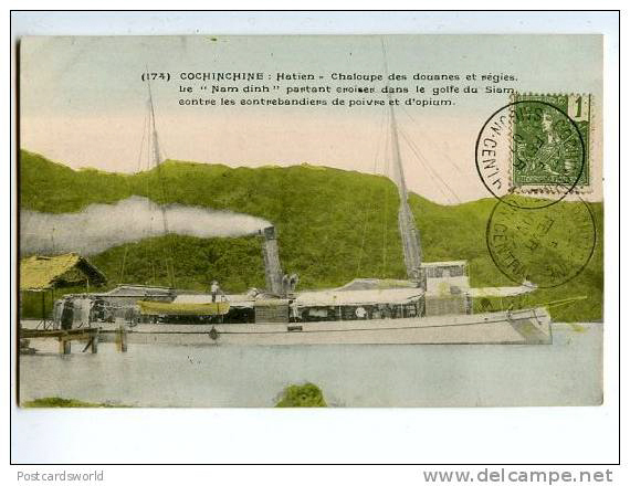 Postcacrd tàu ở Hà Tiên