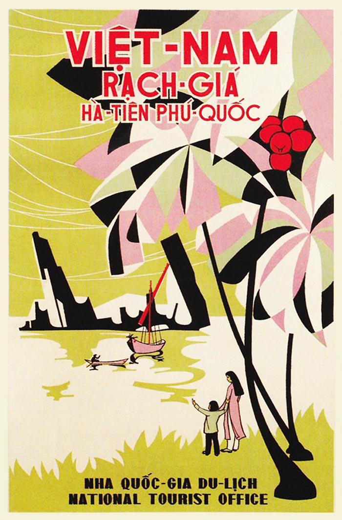 Poster du lịch Việt-Nam Rạch-Giá