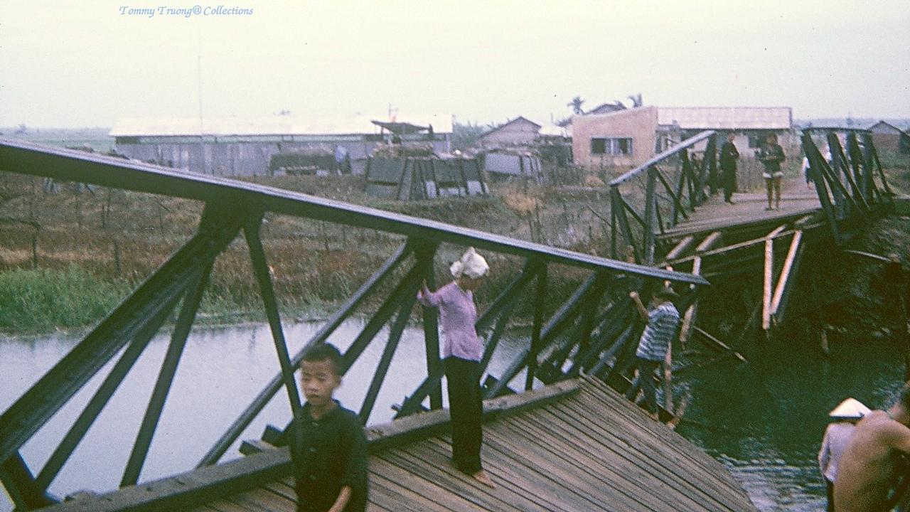 Cây cầu xây thời Pháp ở Bến Lức bị phá hủy bởi chiến tranh phải xây dựng lại