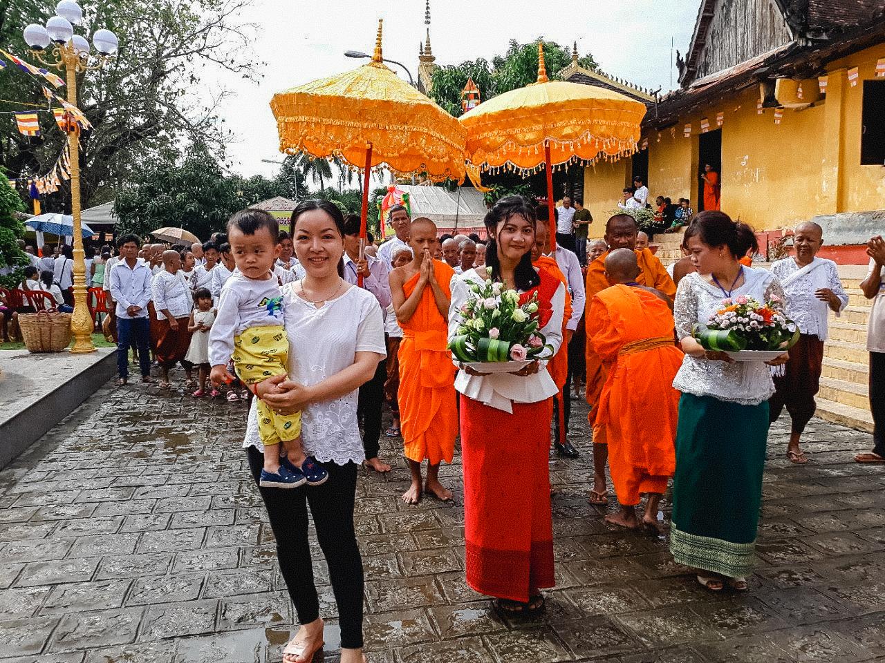Lễ hội người Khmer được tổ chức ở chùa Sà Tón