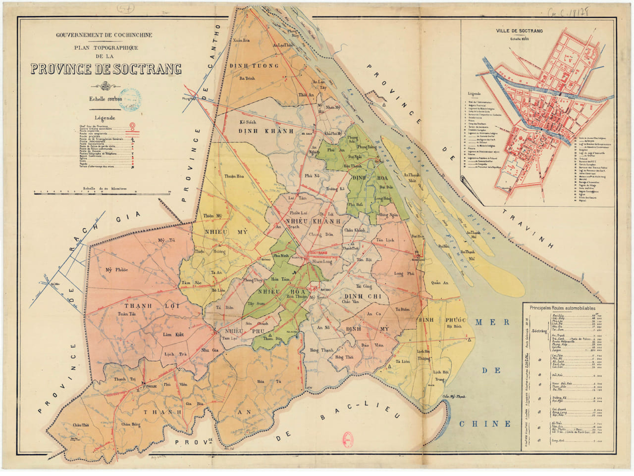 Bản đồ Sóc Trăng năm 1930