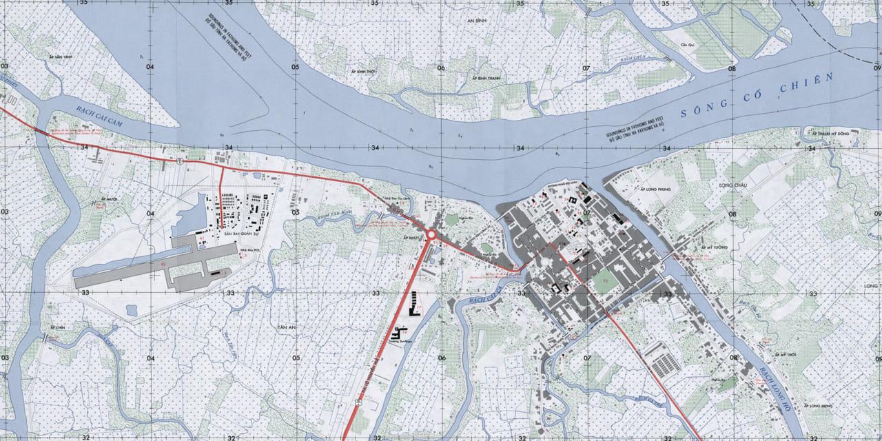 Bản đồ Vĩnh Long năm 1966