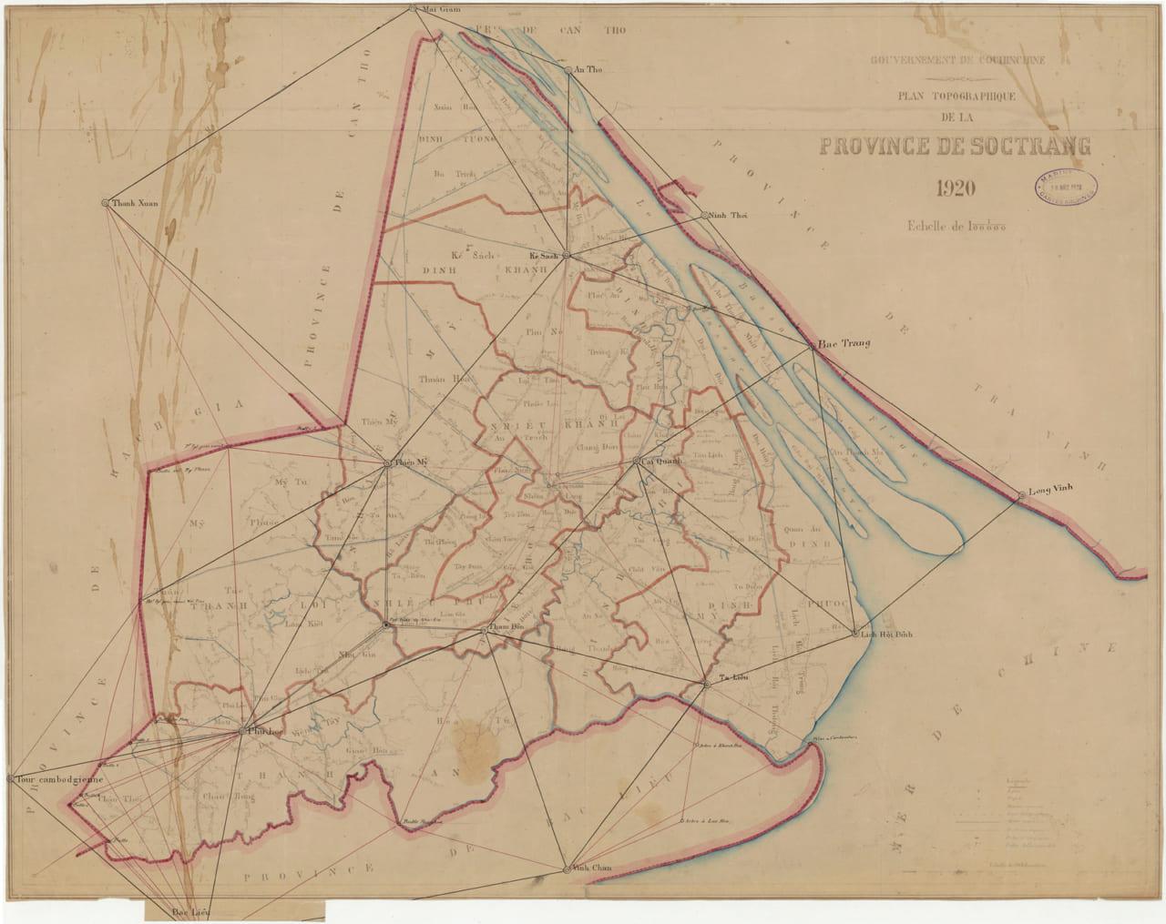 Bản đồ tỉnh Sóc Trăng năm 1920