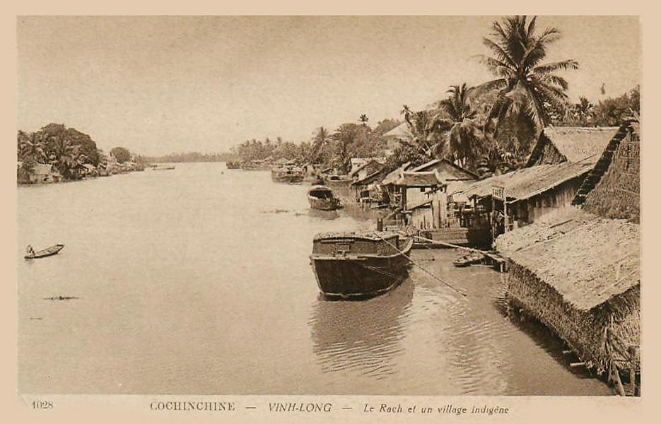 Cảnh ven sông ở Vĩnh Long