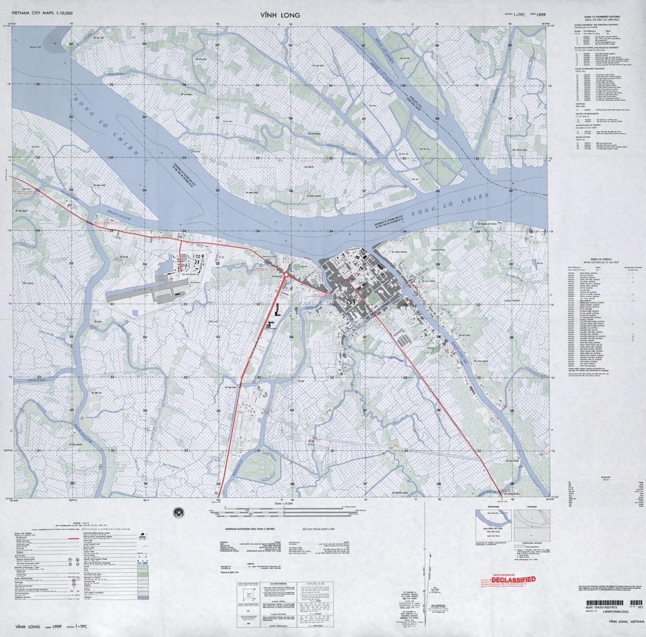 Bản đồ phân loại tỉnh Vĩnh Long năm 1966 - Tỷ lệ 110.000)