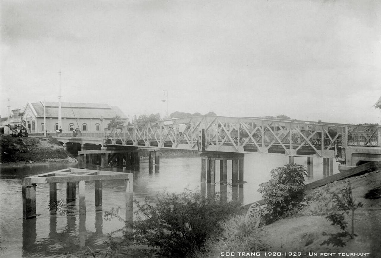 Cầu quay Sóc Trăng thập niên 1920s
