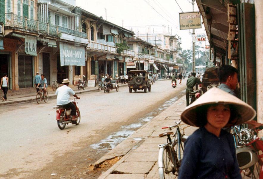 Đường chính Hai Bà Trưng năm 1967 tỉnh Sóc Trăng