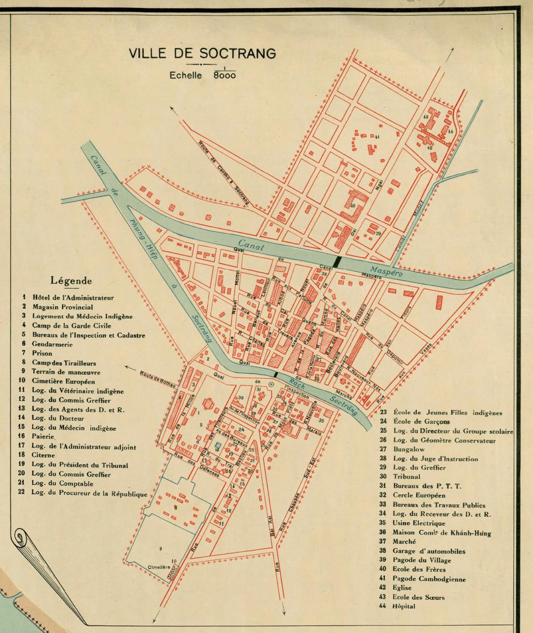 Bản đồ Thành phố Sóc Trăng năm 1930
