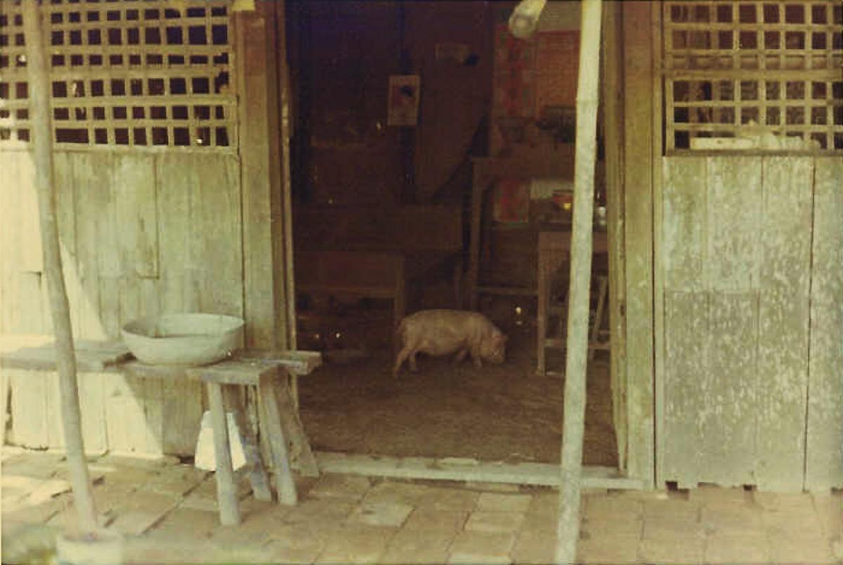Bên trong nhà dân ở quốc lộ 4 tại Vĩnh Long năm 1968 - 1969 | Photo by Raymond Pete Peterson