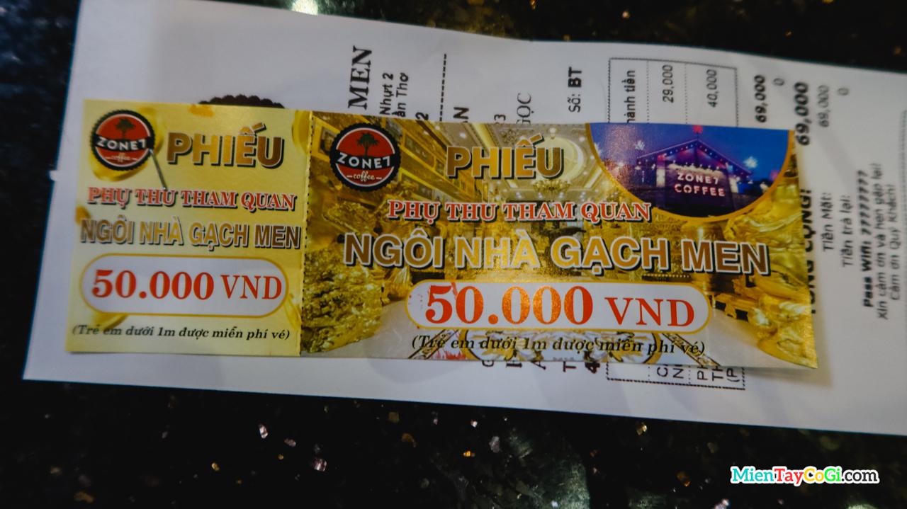 Giá vé tham quan ngôi nhà dát vàng Cần Thơ
