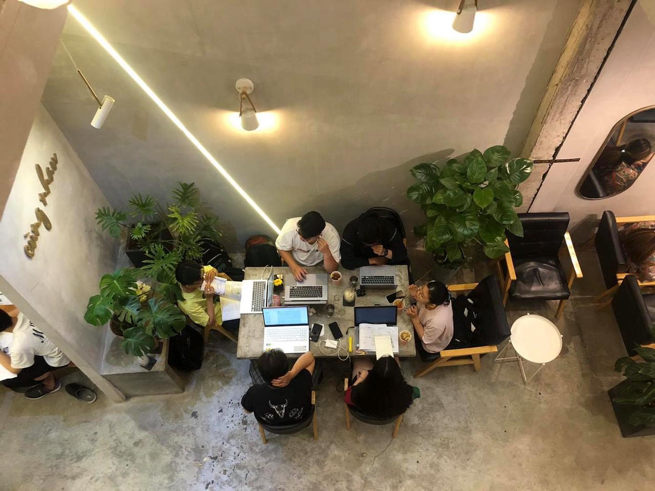 Không gian làm việc và học bài khá tốt của cà phê Infini T Cần Thơ