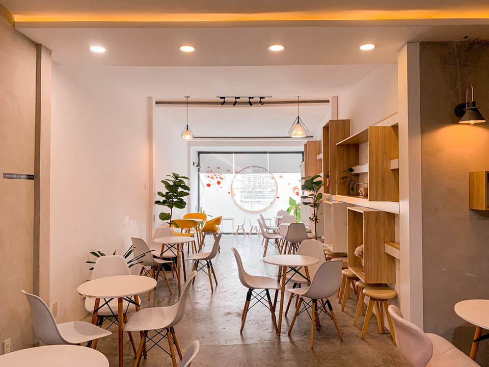 Không gian tầng trệt quán cà phê Infini T Cần Thơ