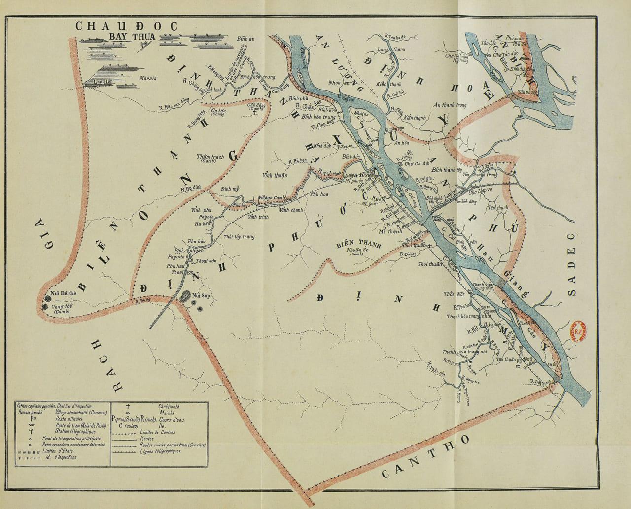 Bản đồ Long Xuyên năm 1924