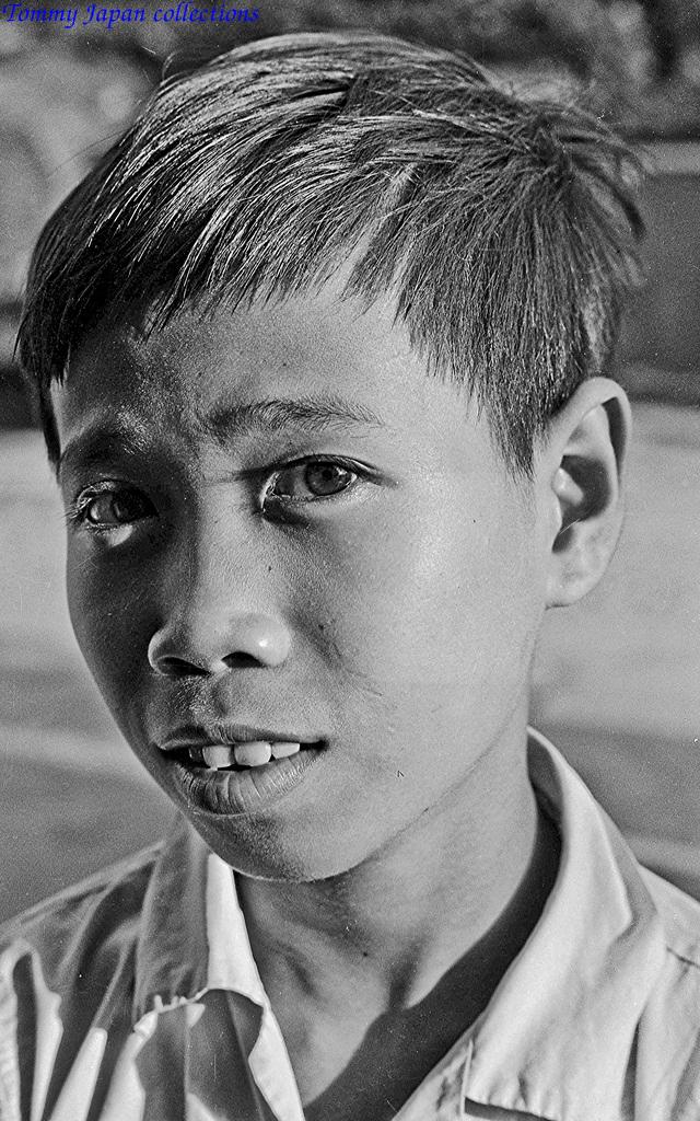 Ảnh chân dung đứa trẻ Việt Nam ở Mỹ Tho
