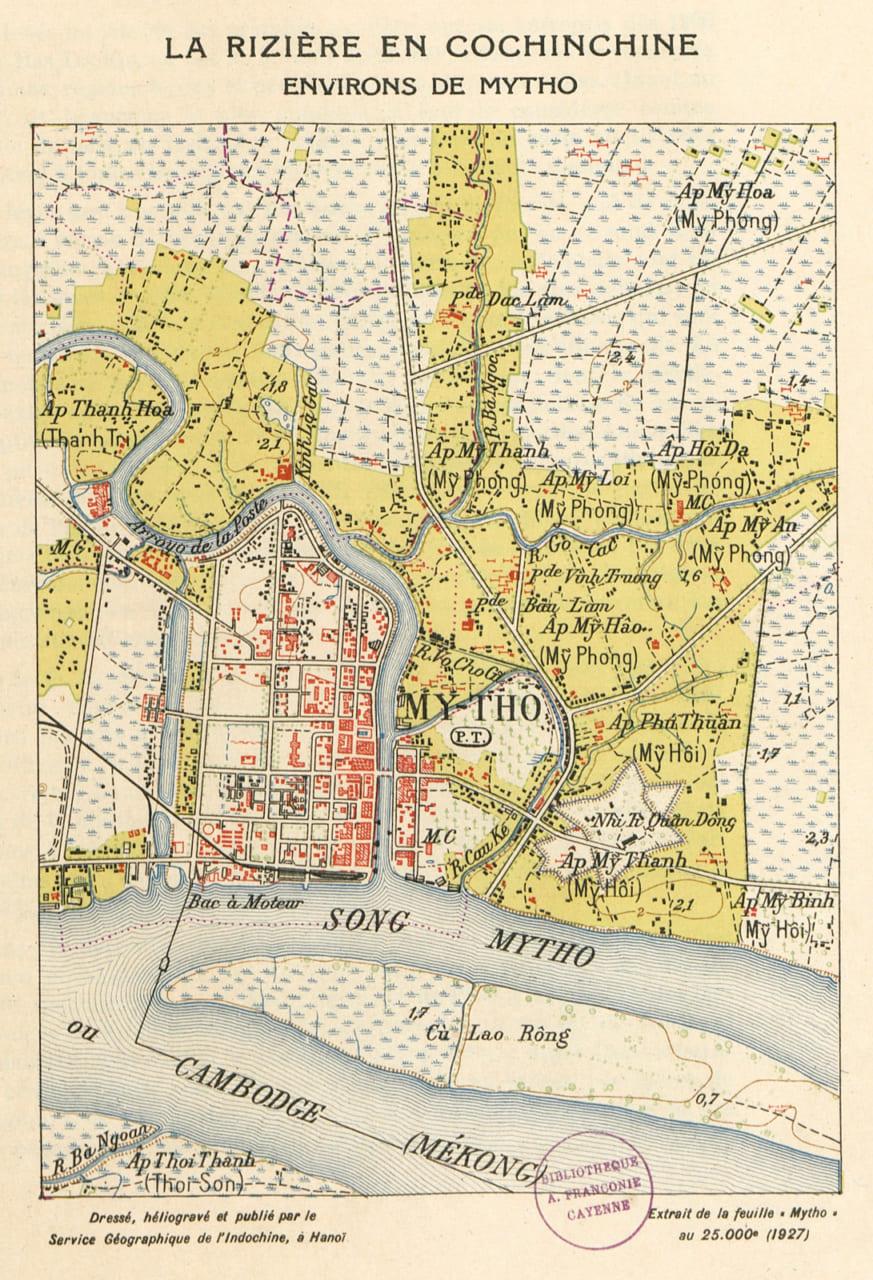 Bản đồ Mỹ Tho năm 1927