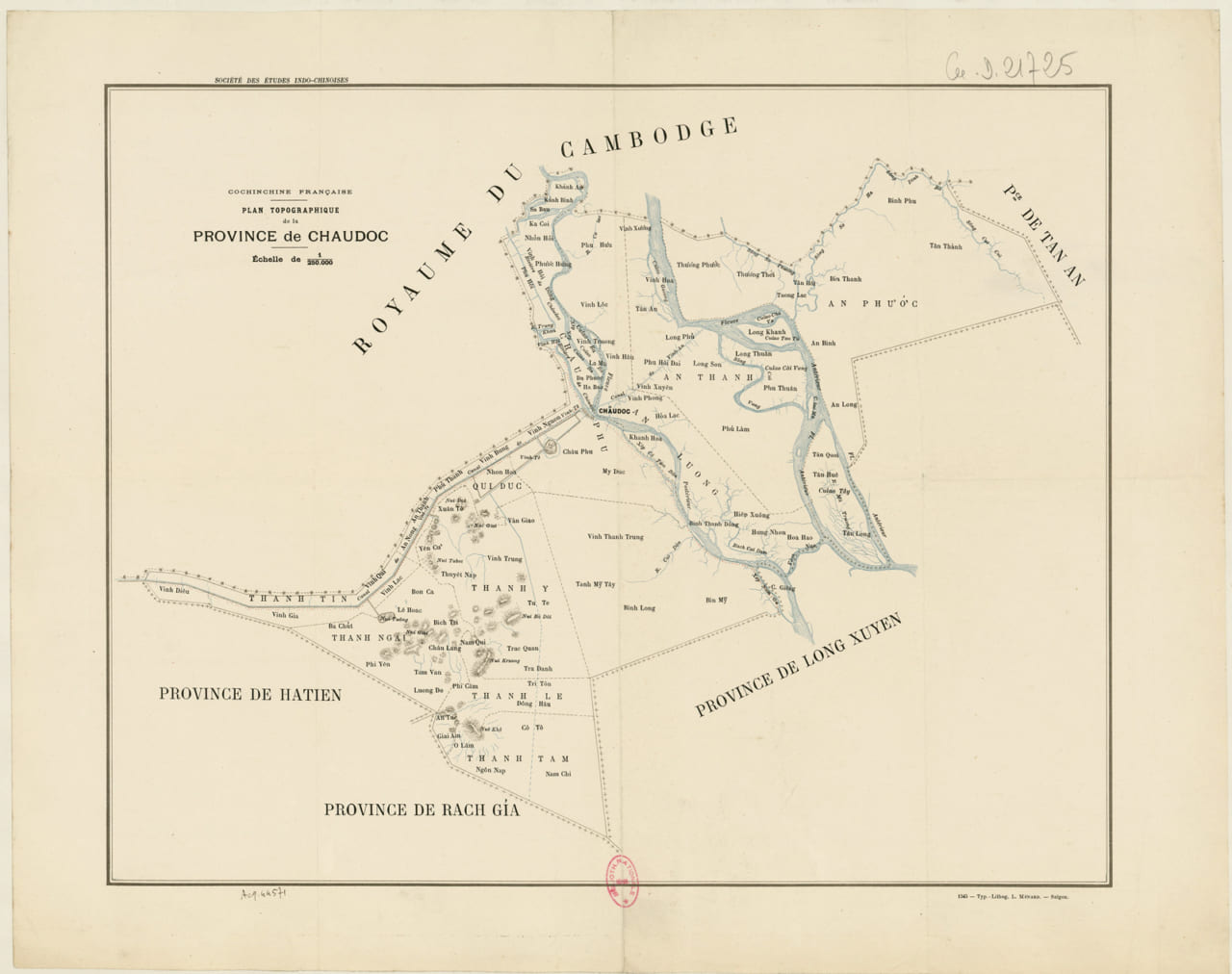 Bản đồ tỉnh Châu Đốc năm 1890