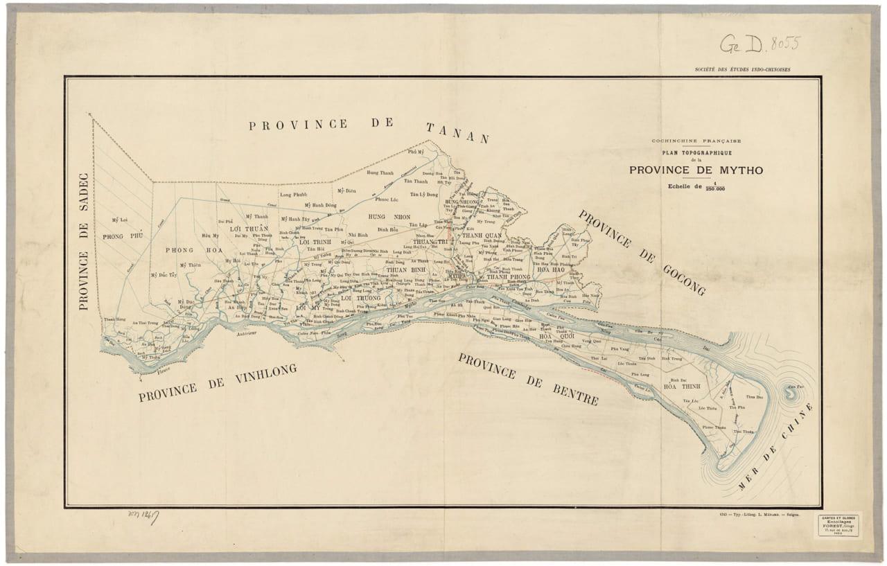 Bản đồ tỉnh Mỹ Tho năm 1902