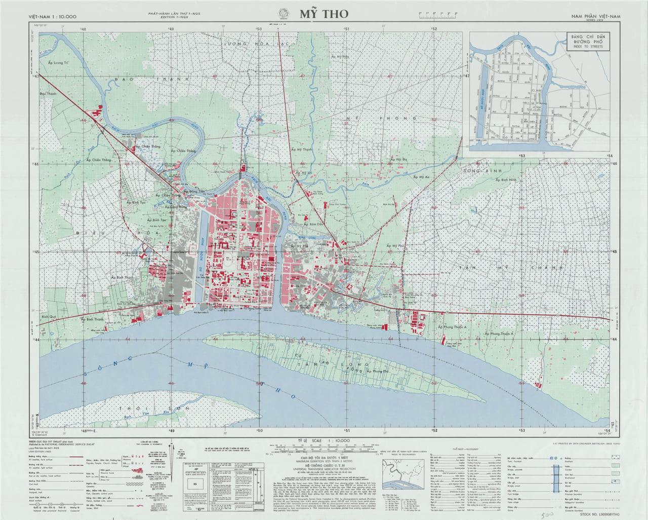 Bản đồ Mỹ Tho năm 1965