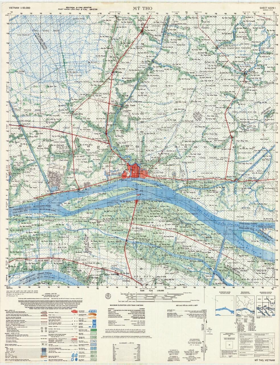 Bản đồ Mỹ Tho năm 1968