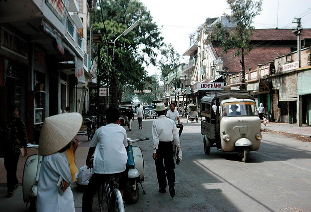 Đường Phan Đình Phùng ở Cần Thơ năm 1967