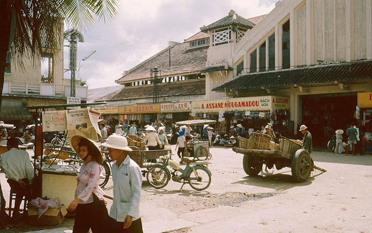 Khu chợ cổ Cần Thơ thập niên 1960