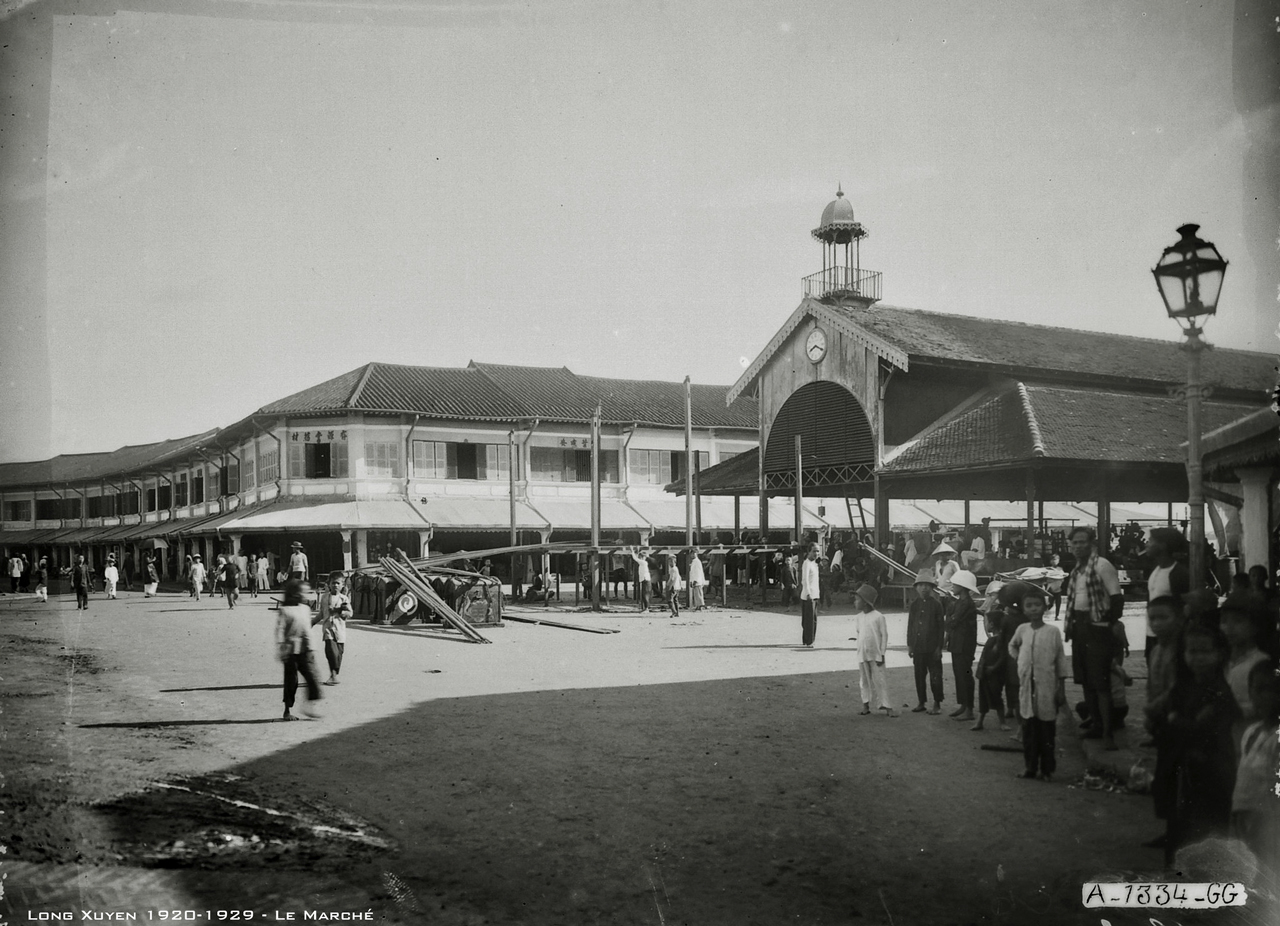 Chợ Long Xuyên thập niên 1920s
