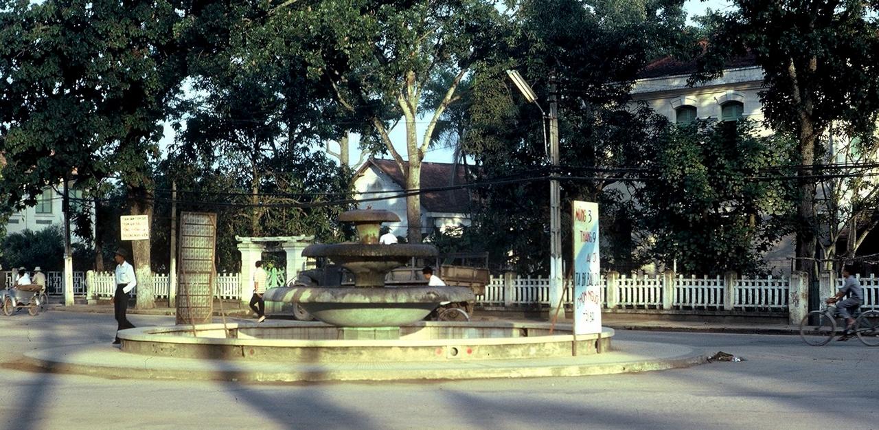 Đài phun nước ở trung tâm Cần Thơ ngày xưa