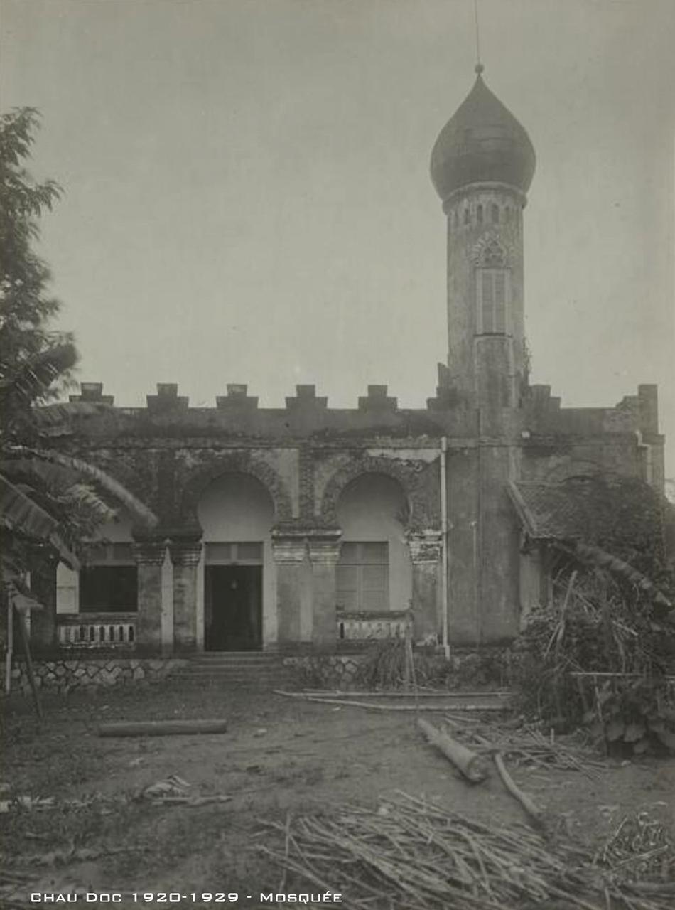 Đền Hồi giáo trong làng Chăm ở Châu Đốc thập niên 1920s