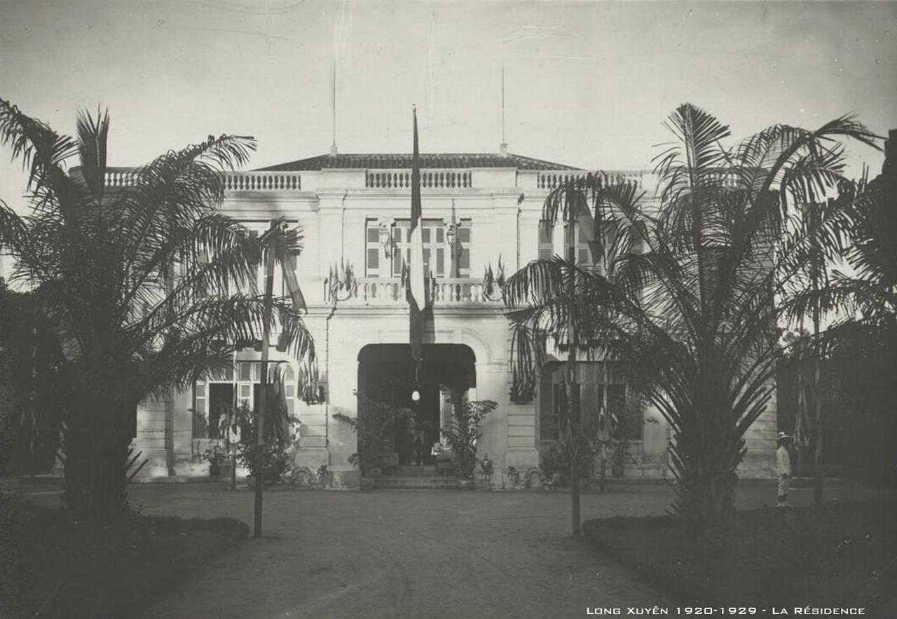 Dinh Công sứ Long Xuyên thập niên 1920s