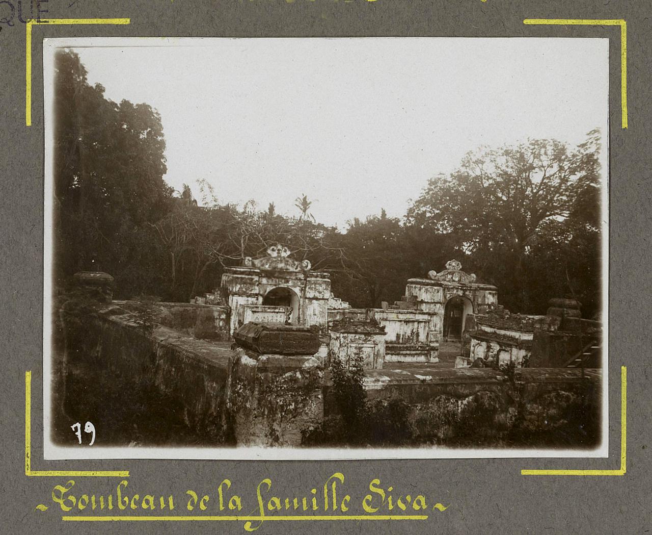 Khu lăng mộ Thoại Ngọc Hầu ngày xưa