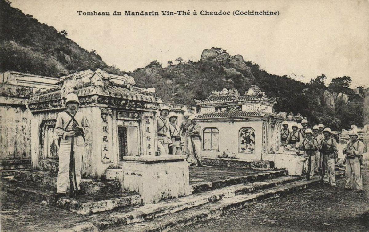 Khu lăng mộ Thoại Ngọc Hầu ở Châu Đốc xưa