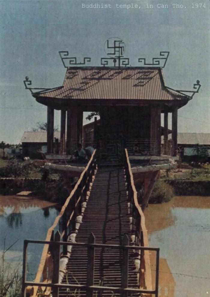 Kiến trúc một ngôi chùa ở Cần Thơ năm 1974