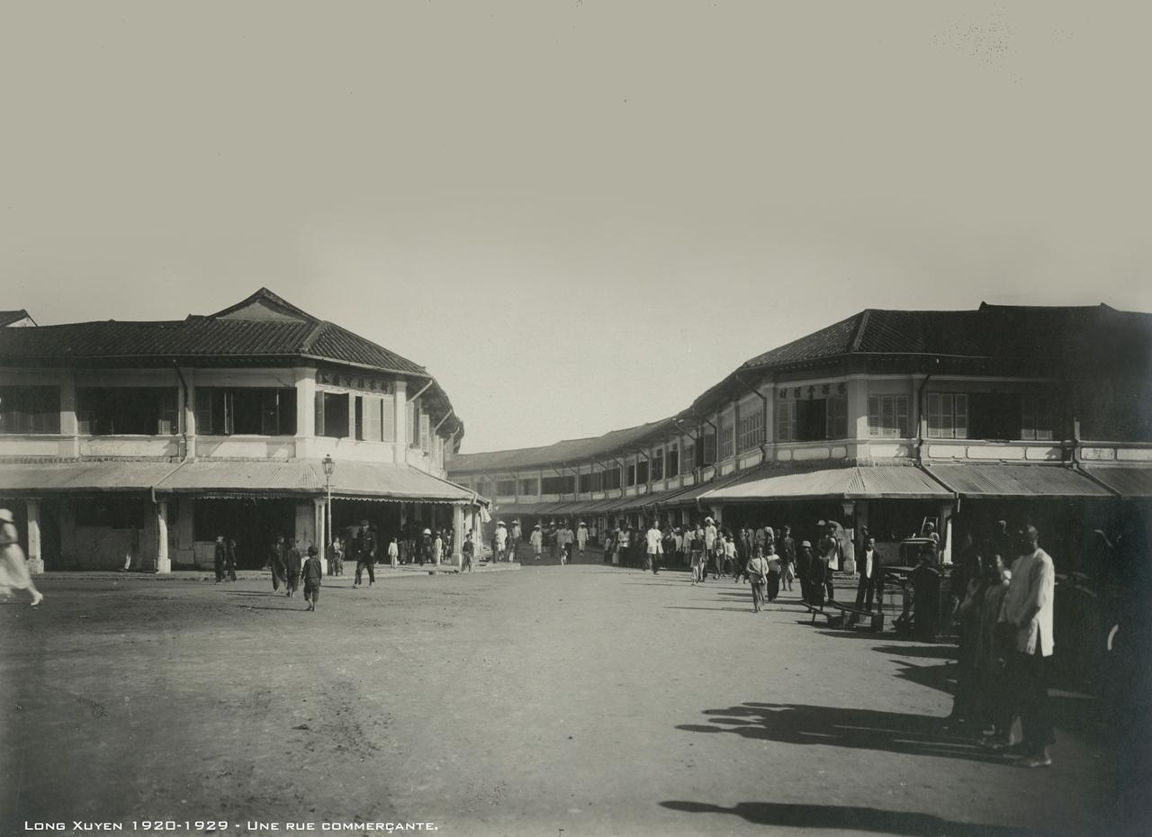 Khu phố mua sắn ở trung tâm Long Xuyên thập niên 1920s