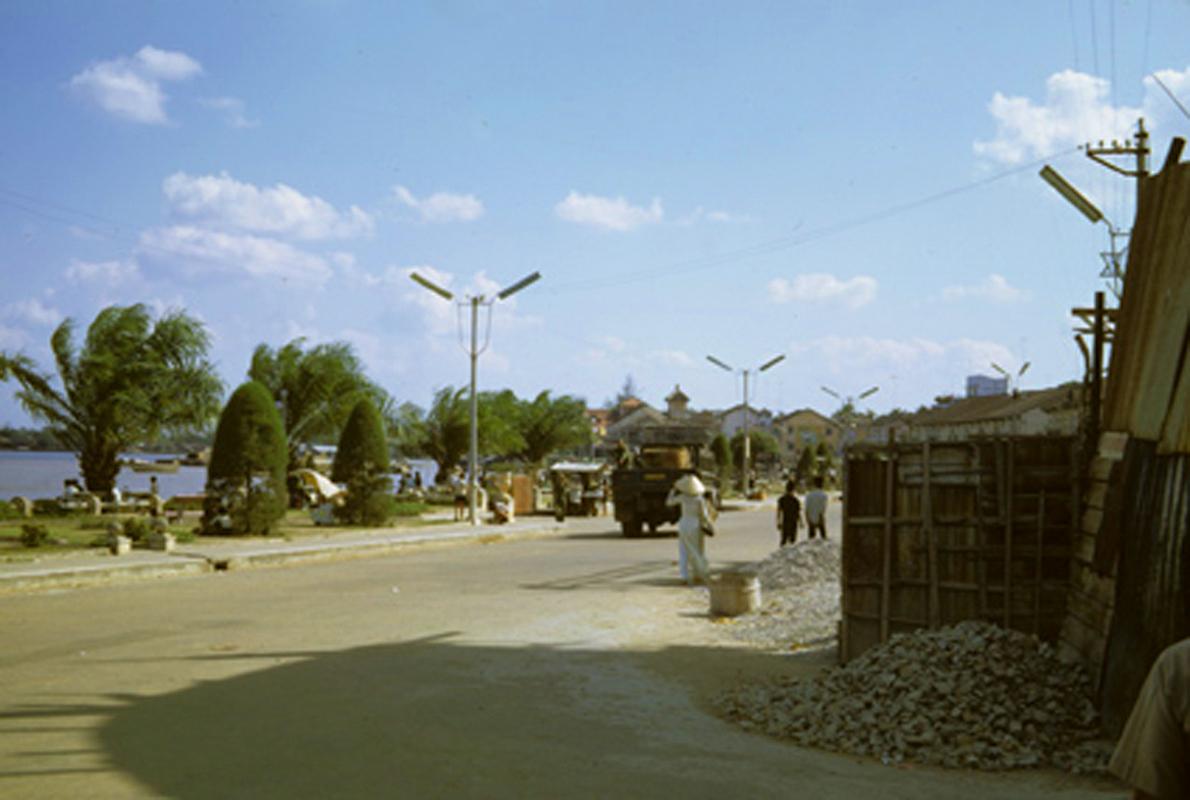 Một góc đường ở bến Ninh Kiều Cần Thơ năm 1967