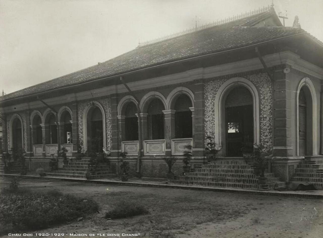 Nhà của Lê Công Chăng ở Châu Đốc thập niên 1920s