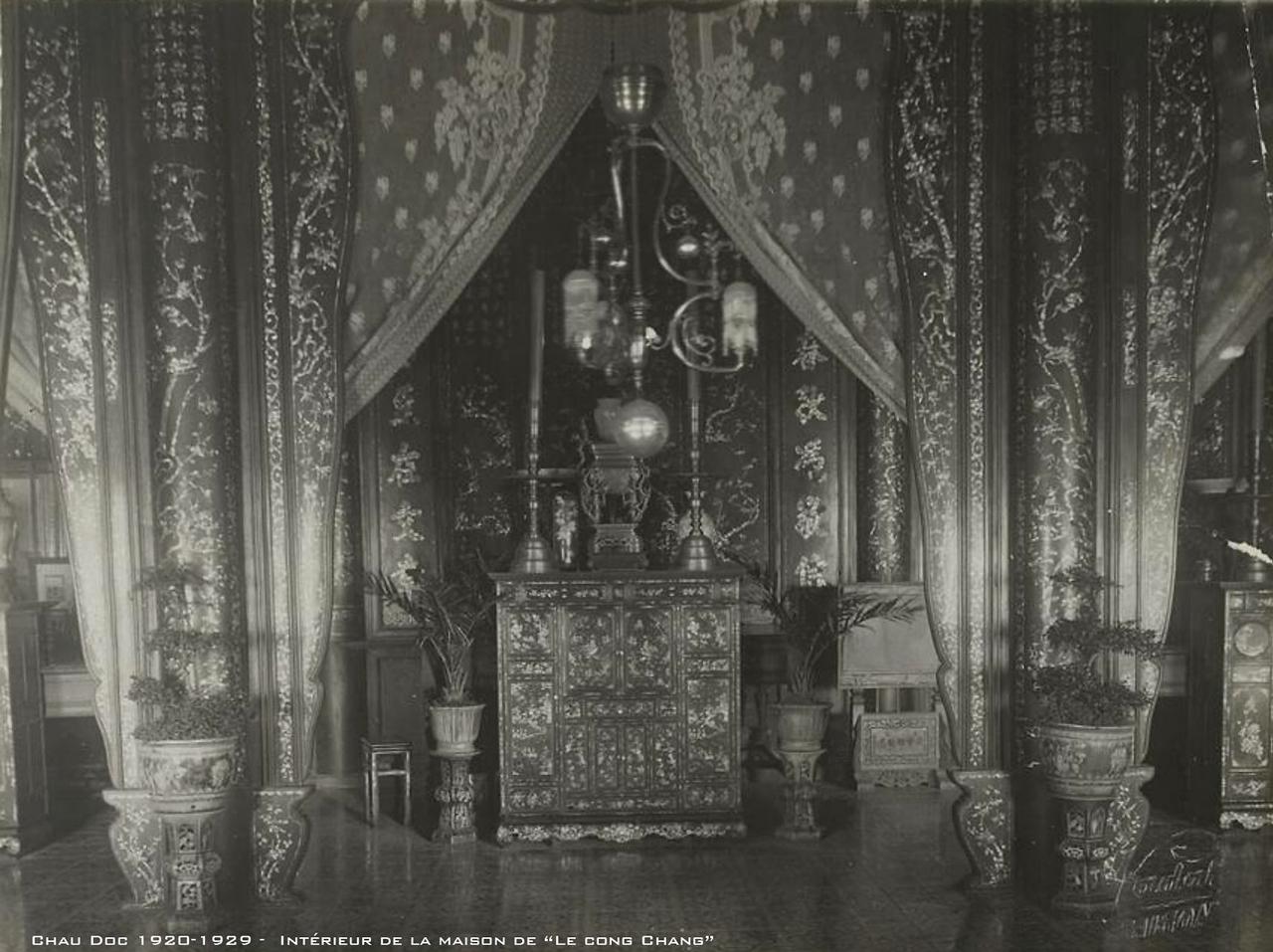 Nội thất nhà Lê Công Chăng ở Châu Đốc thập niên 1920s
