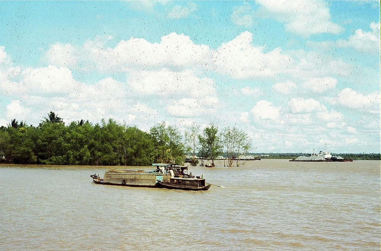 Quang cảnh sông Mekong ở địa phận Mỹ Tho năm 1969