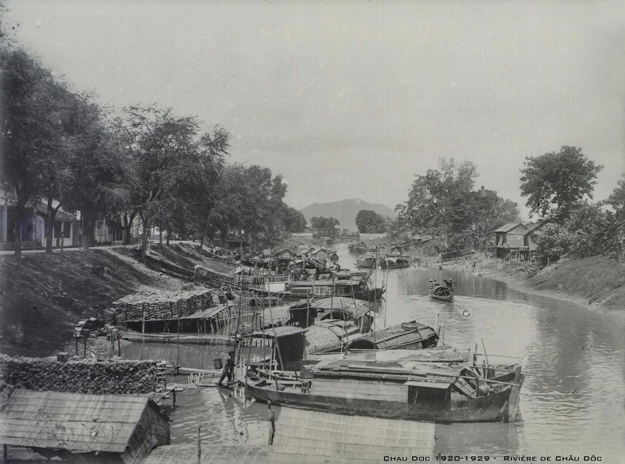 Sông Châu Phú - Châu Đốc thập niên 1920s