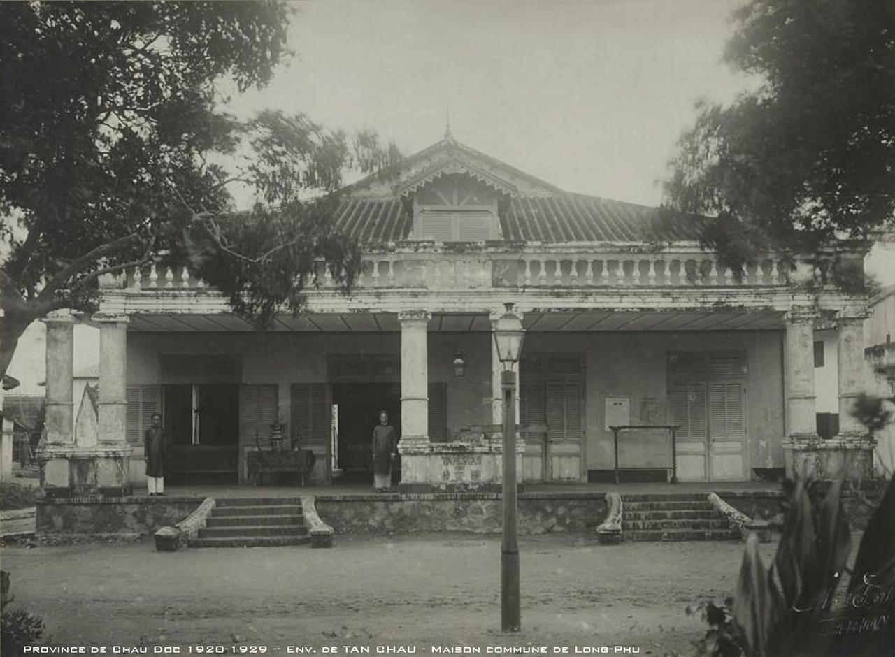 Nhà làng Long Phú - Vùng lân cận Tân Châu thập niên 1920s