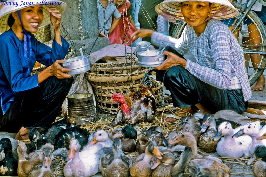Ăn cơm trưa chợ Mỹ Tho năm 1969   Photo by Lance Cromwell