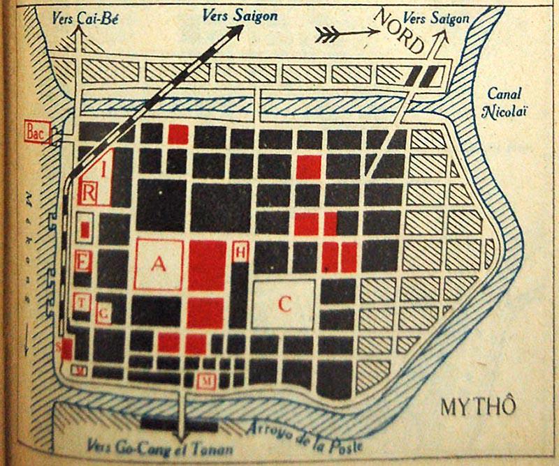 Bản đồ Mỹ Tho năm 1931