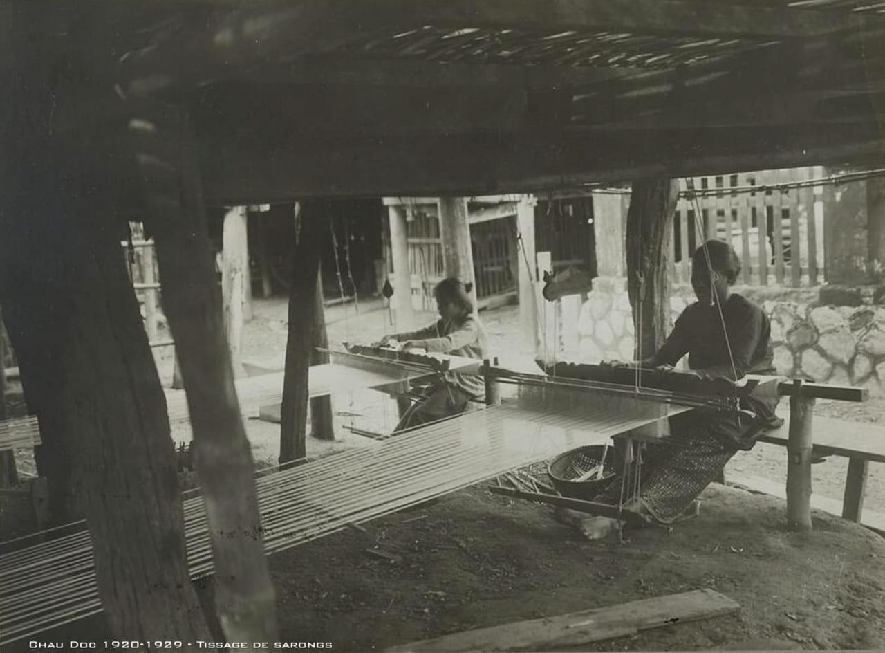Dệt xà rông ở Châu Đốc xưa