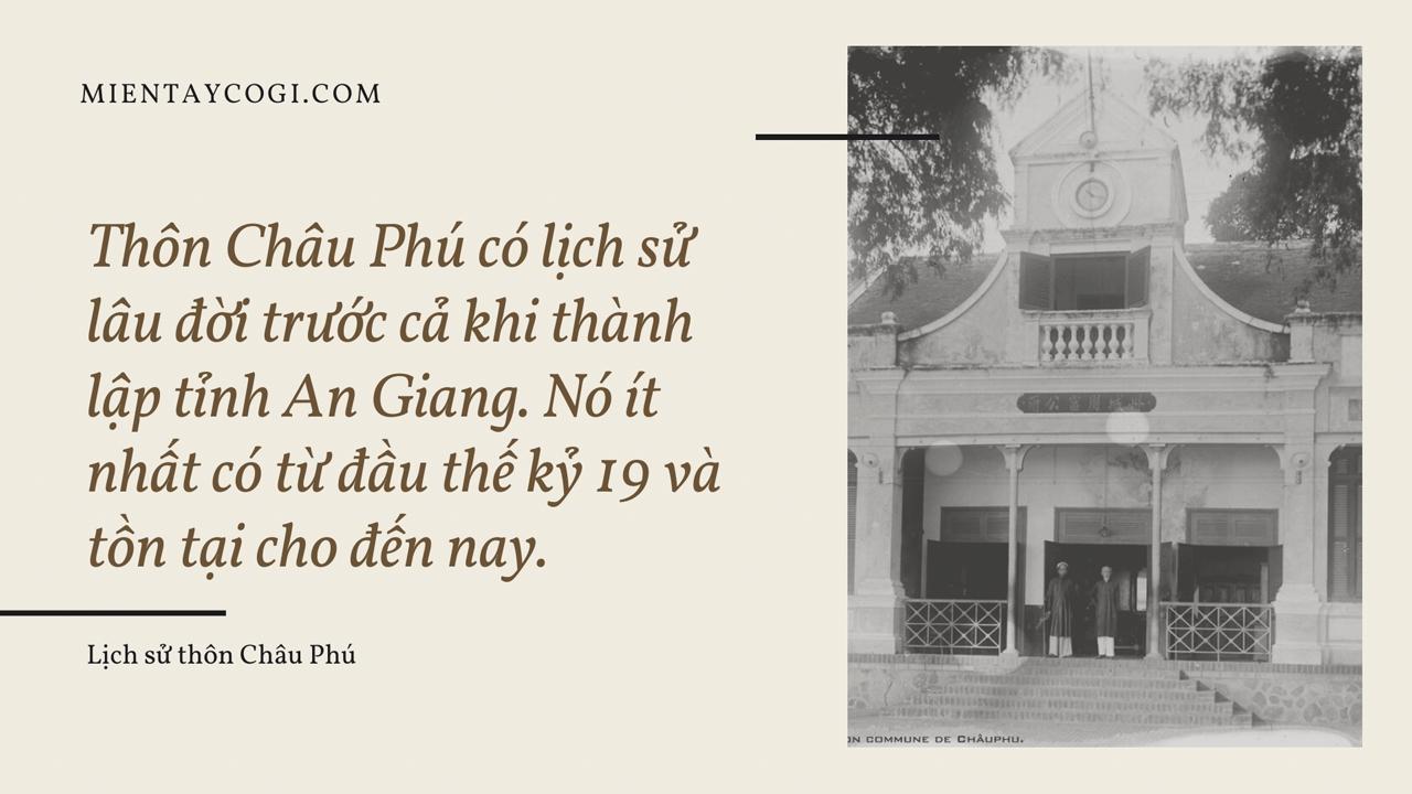 Lịch sử thôn làng Châu Phú