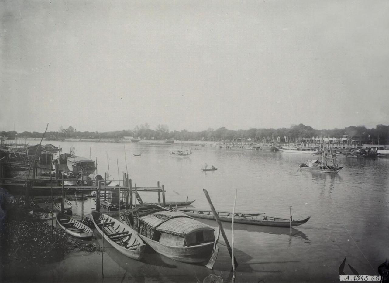 Một bến thuyền tại Châu Đốc thập niên 1920s