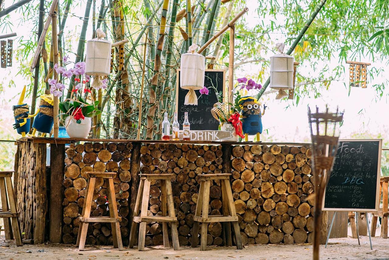 Quầy bar của Bamboo Garden Hậu Giang