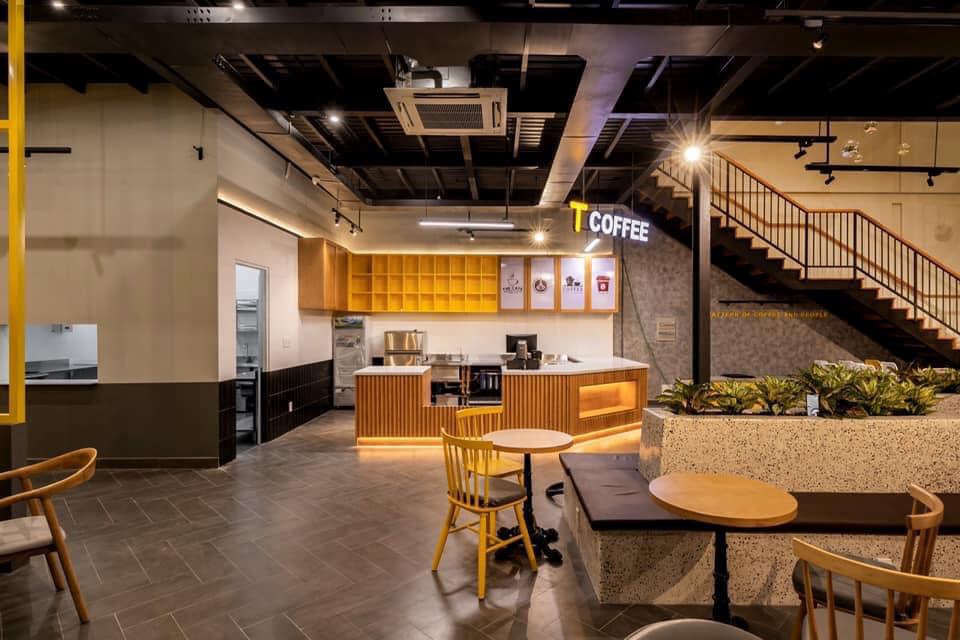 Không gian bên trong quán cà phê T Coffee Cần Thơ